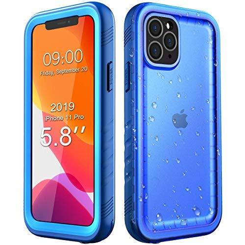 SPORTLINK wasserdichte Hülle für iPhone 11 Pro, Schutzhülle Ganzkörper Unterwasser Rugged Schale Schmutzabweisend IP68 Zertifizierter Waterproof Case for iPhone 11 Pro 5,8 Zoll 2019 Release (Blau)