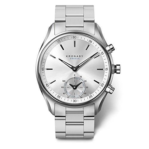 KRONABY SEKEL Herren Hybrid Smartwatch A1000-0715 eine traditionelle Uhr mit Smartwatch Funktionalitäten 43 mm Gehäusedurchmesser Saphirglas 100 Meter wasserdicht Damen
