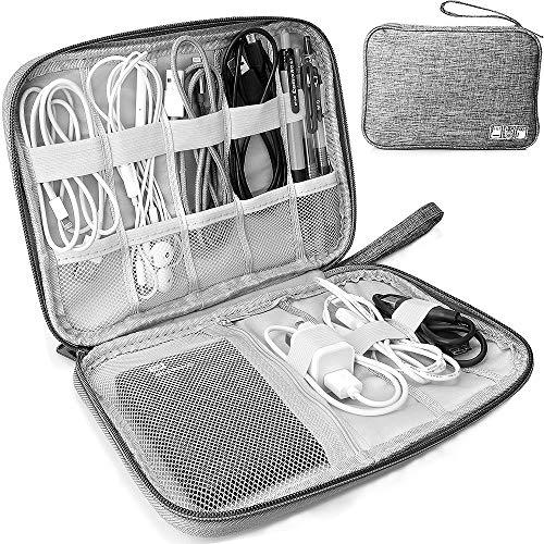 Elektronische Tasche Organizer universal travel Kabel Elektronik Zubehör Tasche Reise Organizer Case für Handy, Kabel, Festplatte, USB Sticks, SD Karten (grau)