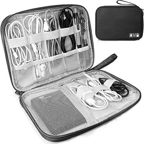 Elektronische Tasche Organizer universal travel Kabel Elektronik Zubehör Tasche Reise Organizer Case für Handy, Kabel, Festplatte, USB Sticks, SD Karten (Schwarz)