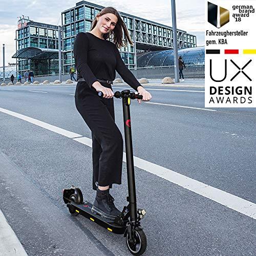 Ohmbike Marktneuheit 2020! Strassenzugelassene e Scooter mit ABE E-Roller CAT, Akku bis 30km, klappbarer Elektro-Roller E-Scooter Erwachsene & Kinder 300W