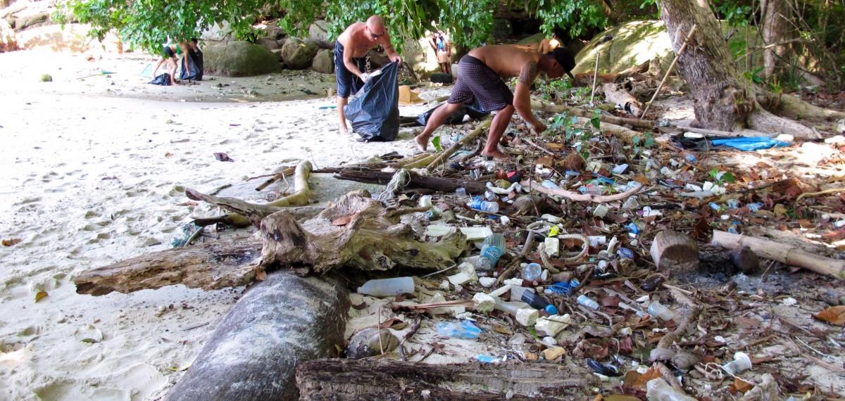 Koh Lipe: Die Organisation Trash Hero kämpft gegen das Müllproblem. Foto: Trash Hero